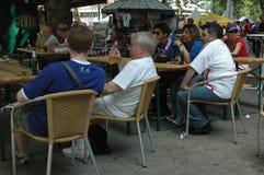 Impressions de la coupe du monde 2006 de la FIFA à Berlin depuis le 9 juillet 2006 avant la finale entre l'Italie et les Frances, Image stock