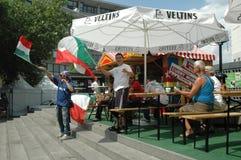 Impressions de la coupe du monde 2006 de la FIFA à Berlin depuis le 9 juillet 2006 avant la finale entre l'Italie et les Frances, Photos stock