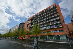 Impressions de la place de Potsdam, Potsdamer Platz à Berlin depuis le 11 avril 2017, l'Allemagne Photo libre de droits