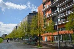Impressions de la place de Potsdam, Potsdamer Platz à Berlin depuis le 11 avril 2017, l'Allemagne Image stock
