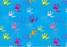 Impressions de main Photo libre de droits