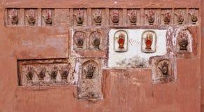 Impressions de main de Bikaner Image libre de droits