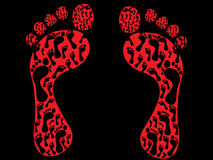 Impressions de pied illustration libre de droits