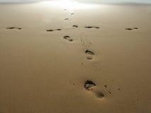Impressions de pied Photo libre de droits