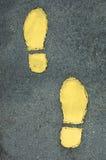 Impressions de pied Photos libres de droits
