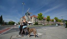 Impressions de rues de Berlin Spandau, Falkenseer de croisement Chaussee avec Zeppelinstrasse, Allemagne photos libres de droits
