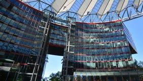 Impressions de Sony Center à la place de Potsdam, Potsdamer Platz à Berlin depuis le 1er juin 2017, l'Allemagne Images stock