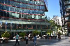 Impressions de Sony Center à la place de Potsdam, Potsdamer Platz à Berlin depuis le 1er juin 2017, l'Allemagne Image libre de droits