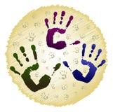 Impressions des mains Photos libres de droits