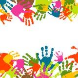 Impressions des mains de l'enfant illustration libre de droits
