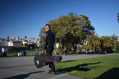 Impressions from the Dolores Park in San Francisco, California USA stock images