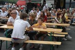 Impressions du mille Fanmeile de fan à la coupe du monde du football 2006 à Berlin le 30 juin 2006 avant le betwe de quart de fin Photos stock