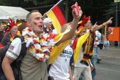 Impressions du mille Fanmeile de fan à la coupe du monde du football 2006 à Berlin le 30 juin 2006 avant le betwe de quart de fin Photographie stock
