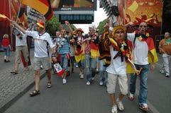 Impressions du mille Fanmeile de fan à la coupe du monde du football 2006 à Berlin le 30 juin 2006 avant le betwe de quart de fin Photo libre de droits