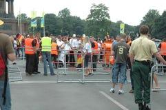 Impressions du mille Fanmeile de fan à la coupe du monde du football 2006 à Berlin le 30 juin 2006 avant le betwe de quart de fin Photographie stock libre de droits