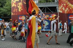 Impressions from the Fan mile Fanmeile at the Football World Cup 2006 in Berlin on June 30, 2006 before the quarter-final betwe Royalty Free Stock Photos