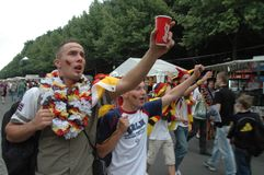 Impressions from the Fan mile Fanmeile at the Football World Cup 2006 in Berlin on June 30, 2006 before the quarter-final betwe Royalty Free Stock Photo