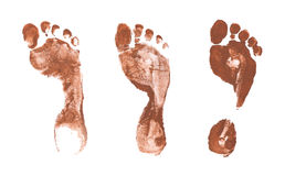 Impressions fantasmagoriques de pied Images stock