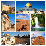 Impressions of Israel. Collage of Travel Images Stock Photos