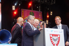 Impressions from the Kieler Woche 2014. Grand Opening Ceremony of the Kieler Woche 2014  with the Prime Minister of Schleswig-Holstein Torsten Albig and Stock Photo