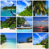 Impressions of Maldives Stock Photo