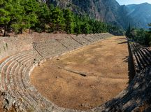 Free Impressions Of The Ancient Site Of Delphi In Northern Greece Stock Images - 160595684