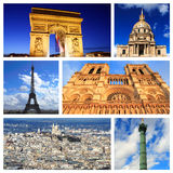 Impressions of Paris. Collage of Travel Images Stock Image