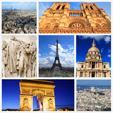 Impressions of Paris. Collage of Travel Images Stock Photos