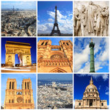 Impressions of Paris. Collage of Travel Images Stock Images