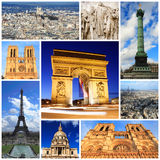 Impressions of Paris. Collage of Travel Images Royalty Free Stock Photography