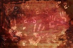 Impressions préhistoriques de main Images libres de droits