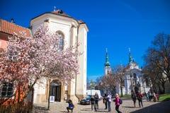 Impressions of Prague. Church of Strahovsky cloister  in Prague in Czech Republic Royalty Free Stock Photo