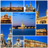 Impressions of Saint Petersburg. Collage of Travel Images Royalty Free Stock Photos