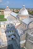 Impressive aerial view on Square of Miracles in Pisa, Italy Stock Image