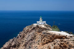 Impressive Akrotiri Lighthouse. Santorini Greece Royalty Free Stock Photography