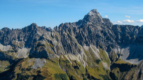 Impressive alpine peak close to Oberstdorf Royalty Free Stock Images