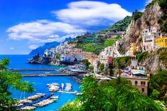 Scenic Amafi coast. Italian summer holidays. Campania,Italy. Royalty Free Stock Images
