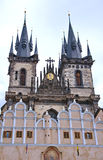 Impressive architecture at the Old Town Square in Prague Stock Images