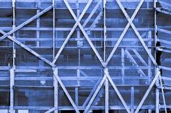 Impressive blue light grayish bluish indigo framework outside of Stock Images