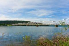 An impressive bridge along the alaska highway Stock Images