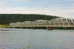 An impressive bridge along the alaska highway Stock Photos