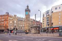 Impressive buildings in glasgow city center on a cloudy day Royalty Free Stock Images
