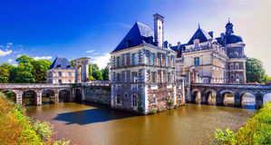 Beautiful castles of Loire valley - elegant Chateau de Serrant. Stock Photo