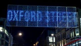 Impressive Christmas lights at Oxford Street London - LONDON, ENGLAND - DECEMBER 10, 2019