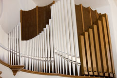 Impressive church organ Royalty Free Stock Images