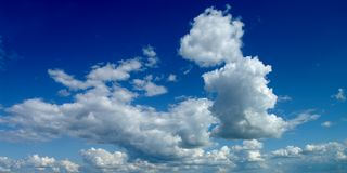 Impressive clouds. In the spring sky Stock Photography
