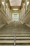 Impressive Columns and Stairway inside of the Asian Museum of Ar. SAN FRANCISCO, CA - DECEMBER 6, 2015: The Asian Art Museum of San Francisco houses one of the Royalty Free Stock Photography
