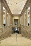 Impressive Columns and Stairway inside of the Asian Museum of Ar. SAN FRANCISCO, CA - DECEMBER 6, 2015: The Asian Art Museum of San Francisco houses one of the Royalty Free Stock Image