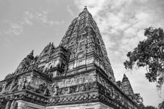 Impressive Complex of the Mahabodhi Temple in Bodh Gaya Royalty Free Stock Images