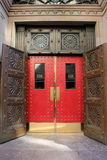 Impressive doors of Boston Athenaeum,2014 Stock Photo
